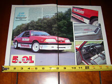 1988 SALEEN MUSTANG 5.0 - ORIGINAL 1992 ARTICLE