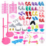 108Pc Doll Dollhouse Accessories Shoes Bag Hanger Comb Bracelet For Barbie Dolls