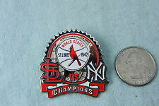 WILLABEE & WARD PIN ST. LOUIS VS NY 1942 CHAMPIONS COMES WITH STATISTICS CARD