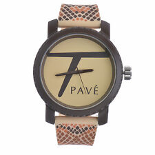 """New Unisex Techno Pave Fashion Animal Printed Watches """"Large Size"""" 7110 BRBG"""
