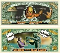 2 Bills CREATURE FROM THE BLACK LAGOON Million Dollar USA SELLER Origin SciFi 3D