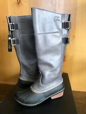 SOREL SLIMPACK TALL 8.5  EQUESTRIAN Riding Rain Boots Women NEW Waterproof
