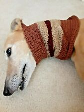 Greyhound Dog Beige Striped Snood 2 Cover Neck **100% Donation 2 Cure K9 Cancer