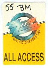 Zz Top - Recycler World Tour -1990/ 91 -Cloth Backstage (Back Stage) pass -Nice!