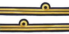 More details for cuff rank sleeve 1 curl 1 bar,gold wire lieutenant sold pair r304