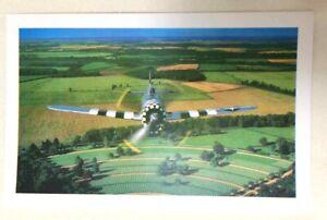 PHOTO Postcard REPUBLIC P-47D THUNDERBOLT Airplane  American Cemetery ENGLAND