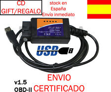 ELM327 CABLE USB MULTIMARCA DIAGNOSIS V1.5 OBDII OBD2 COCHE 2013 SCANNER ELM 327