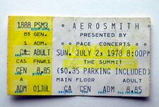 AC/DC AEROSMITH JOURNEY RARE TICKET STUB JULY 2ND 1978 TEXAS SUMMIT BON SCOTT