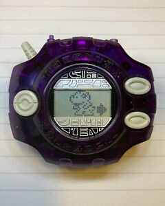 RARE Ban Dai Digimon Adventure Digivice 1999 Transparent Dark Purple