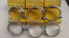 1964-64 CHEVY IMPALA TAIL LIGHT REAR CHROME RINGS ORNAMENT SET OF 6 METALIC