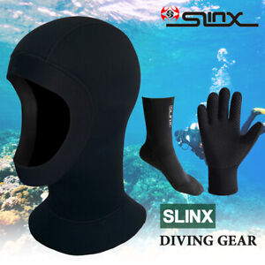 SLINX 3/5mm Diving Set Hood Glove Sock Neoprene Wetsuit Scuba Surfing  ! K