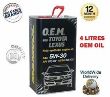 FOR TOYOTA ESTIMA LUCIDA 1999-> ENGINE OIL 4 LITRE 5W-30 5W30 API SN CF C2 C3