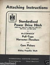 Farm Manual - IH Power Drive Hitch McCormick Harvester Attach Instruction (FM336