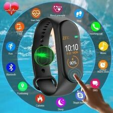Bluetooth Smart Watch Heart Rate Blood Pressure Fitness FIT#BIT Sport Tracker UK