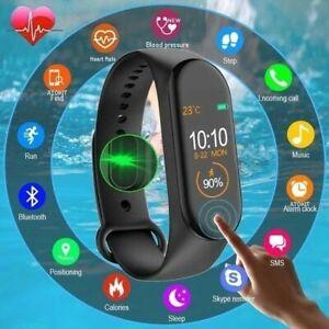 2021 Bluetooth M5 Smart Watch Bracelet Heart Rate BP Sports FIT#BIT Tracker M4+