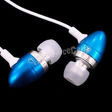 1 x Bleu Télécommande Et Microphone Métal Ecouteurs pour iPhone 3G/3GS/4G/4S HTC