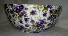 Dowager Duchess China Scone / Serving Bowl - Summer Pansy
