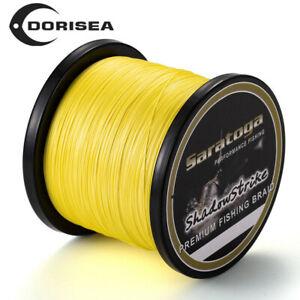 8 Strands Yellow PE Power Top Dyneema Braid Fishing Line 100M/300M/500M/1000M