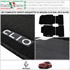 TAPPETI Tappetini su Misura Moquette RENAULT CLIO IV Dal 2012 Zerbino Zerbini
