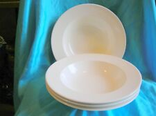 "Fairmont and Main 4 Pasta/Large Soup Plates White Linen 10 and 1/8"" 25.5cm"