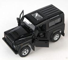 Spedizione LAMPO Land Rover Defender Nero Black Welly Modello Auto 1:34 NUOVO & OVP