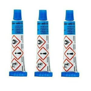 3 x WELDTITE BICYCLE BIKE PUNCTURE REPAIR KIT GLUE INNER TUBE RUBBER SOLUTION