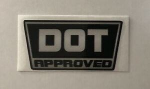 DOT Approved Helmet Vinyl Replacement Decal Sticker Replace Old Sticker #odd50