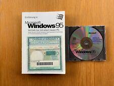 Microsoft Windows 95 CD mit Key, Echtheitszertifikat und Buch