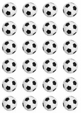 24 x PRECUT Edible Football Cupcake Fairy Cake Wafer Decoration Toppers Soccer