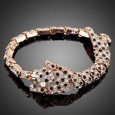 18K Gold GP Made With Blue Swarovski Crystal Elements Filigree Bangle Bracelets