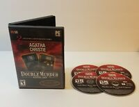 Agatha Christie Double Murder Combo PC CD-Rom 2007 Windows game compilation