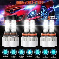 9005+H11+H11 LED Headlight Sets Hi/Lo+Fog Lights for Honda Accord 13-2018 5715W