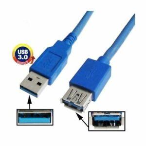 Cavo USB 3.0 tipo A prolunga maschio/femmina cable dati pc hard disk 2 mt