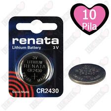 10 Batteria Pila CR2430 3V a Bottone CPU Orologio Litio