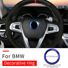 Steering Wheel Center Logo Ring Blue Emblem For BMW 1 3 4 5 7 Series X1 X3 X5 X6