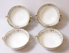 6 Imperial Bohemian Monterey Bone China Soup/Dessert Bowls Czechoslovakia Pastel