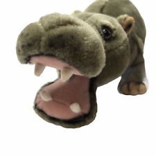 "Jungle Joe's Soft Toy Plush Talking Hippo ""Happy the Hippo."" Gray Makes Noise"