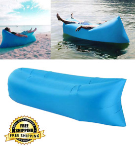 Camping Inflatable Sofa Air Bed Lounger Chair Sleeping Bag Sofa Indoor Outdoor