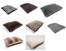 LARGE & Extra Large Luxury Fur Dog Bed - Washable Zipped Mattress Pillow Cushion