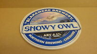 Blakemere Brewery Snowy Owl Ale beer Pump Clip face Bar Collectible 41
