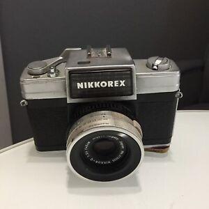 Nikon Nikkorex II 35mm SLR Film Camera with Nikkor Q 5cm f/2.5 Lens NOT TESTED