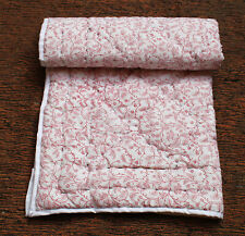 Baby Quilt Indian Hand Block Printed Light Weight Coverlet 100% Cotton Filled
