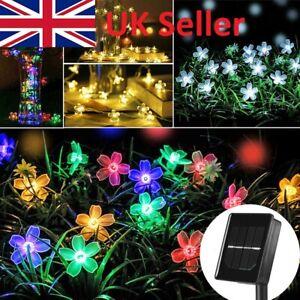 50 LED Solar Power Flower Fairy Garden Lights Outdoor Wedding Party Multi Colour