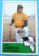 JOSE CANSECO 1983 RARE SP Madison Muskies Oakland A's Rookie Card RC 40-40 Man
