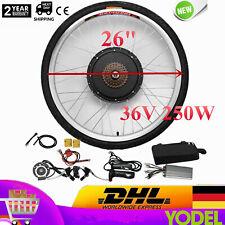 "26"" 36V 250W Kit de conversión Bicicleta eléctrica E-Bike Rueda Trasera Hub DHL"