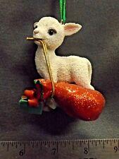 "The Danbury Mint Christmas ""Baby Animal"" Ornament ""Lamb"" Figure Euc"