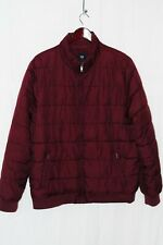 Men's Gap Insulated Jacket - Large - Burgundy, Fleece Lined, Puffer