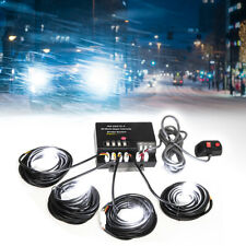 Hide Away Emergency Strobe Light Headlight Kit Waring System 4 HID Bulbs-WHITE