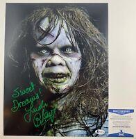 Linda Blair Autographed The Exorcist Regan MacNeil 11x14 Photo Signed Beckett CO