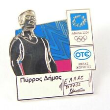 Athens Olympic Games 2004 Pin Badge - Signed - Rare - Ote Sponsored - Greek